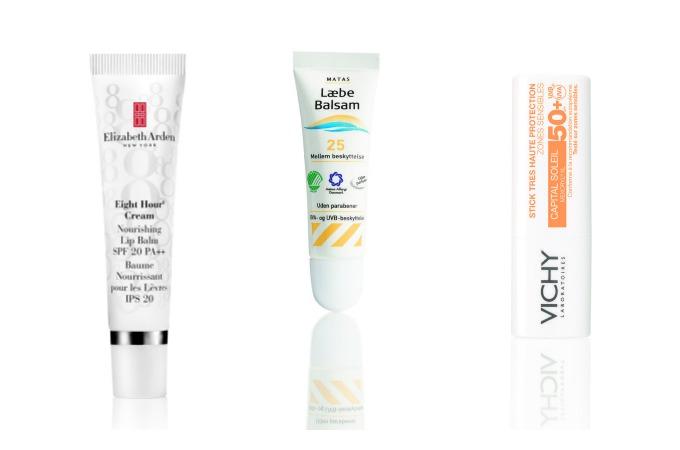 Læbeprodukter med solfaktor
