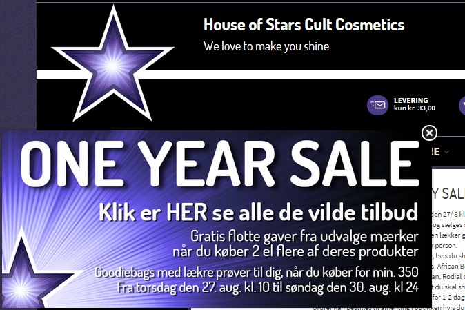 One Year Sale hos House of Stars