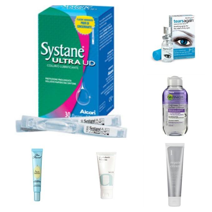 Gode produkter til tørre øjne