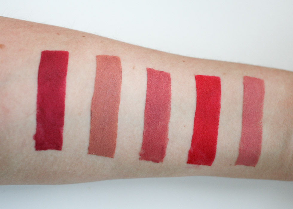 Rimmel The One Matte swatches