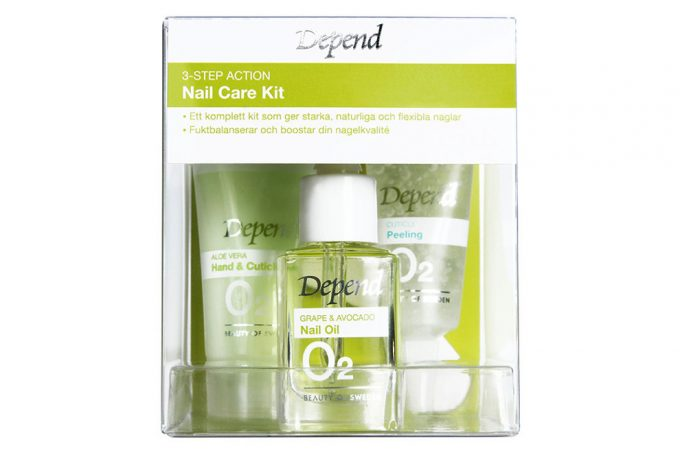 O2 Depend 3-Step Action Nail Care Kit