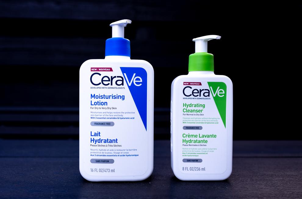 Cerave moisturising lotion og hydrating cleanser
